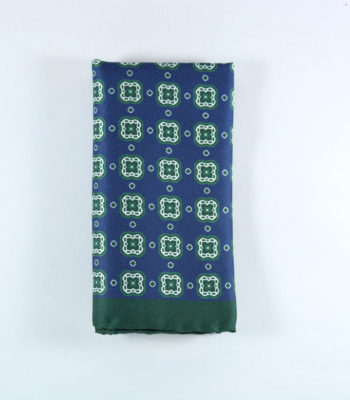 Cyber Blue Pocket Square