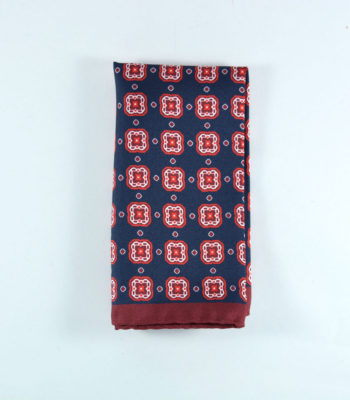 Cyber Red Pocket Square