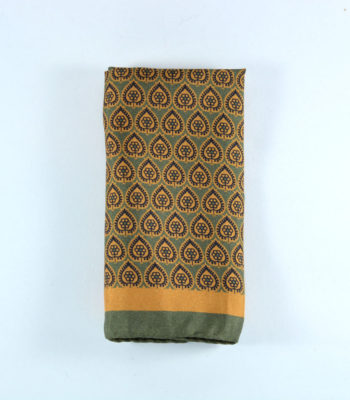 Zenon Green Pocket Square
