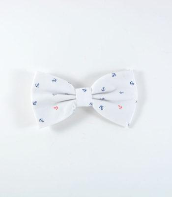 Anchor White Bow Tie