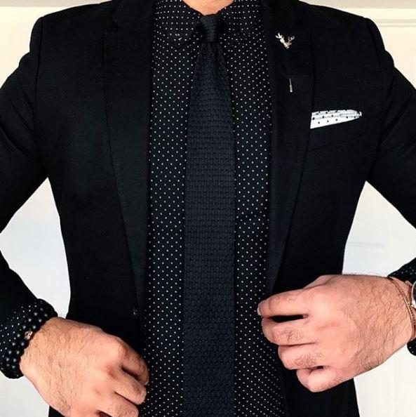 gentswear μαύρη γραβάτα