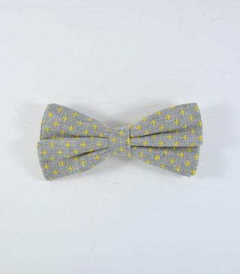 Grey Star Bow TIe