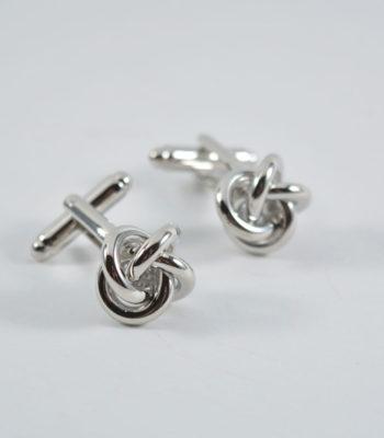 silver-knot cufflinks
