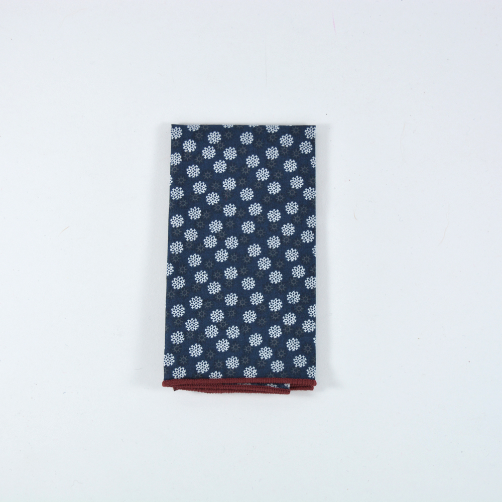 Snowspring pocket square