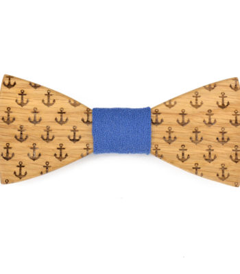 Anchor Wooden Bow Tie