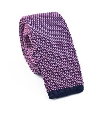 Parfait Pink Knitted Tie