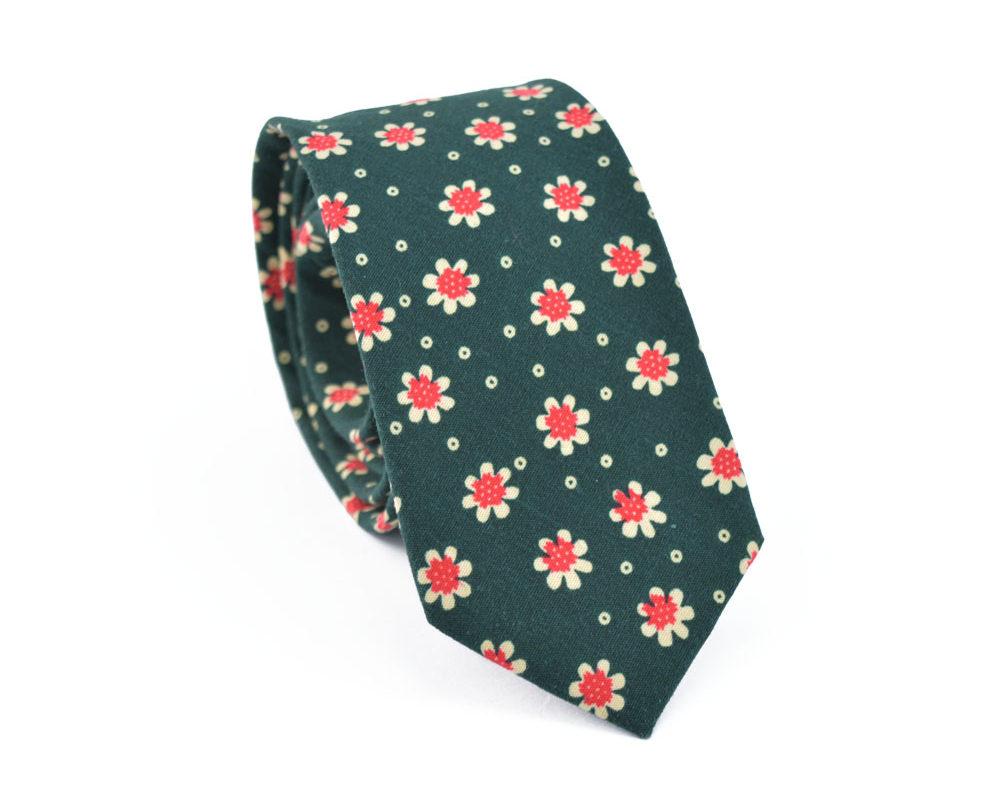 Γραβάτα Crazy Daisy Green