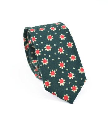 Crazy Daisy Green Tie