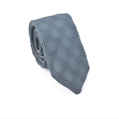 Γραβάτα Grey Knitted