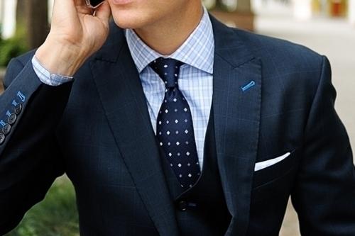 checkered-shirt-dotted-necktie