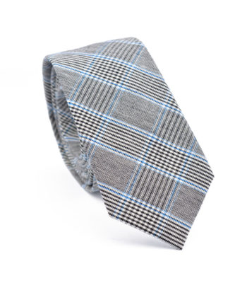 Grey and Blue Tie