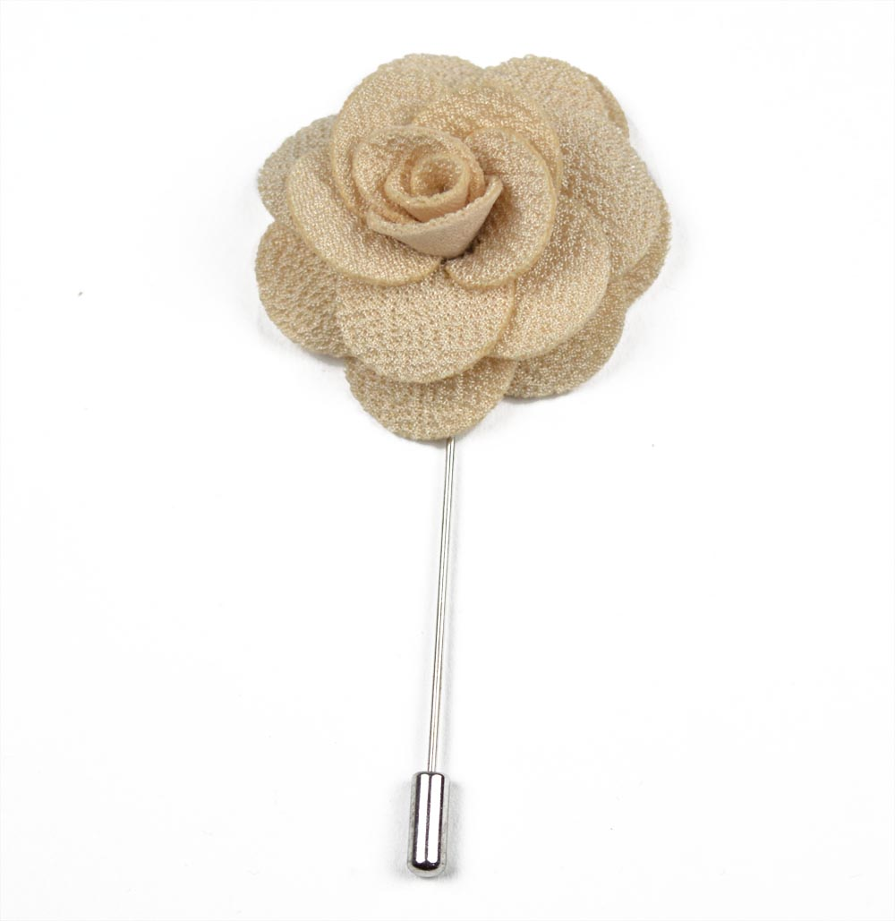 Καρφίτσα Πέτου Flower Beige