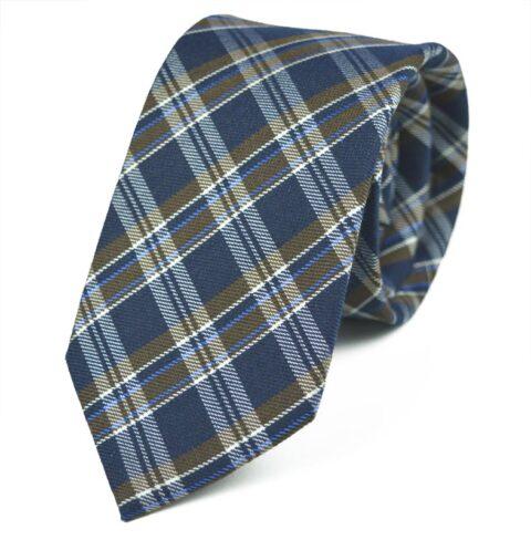 Γραβάτα Makis Tselios από μαλλί και Μετάξι - Galena Blue