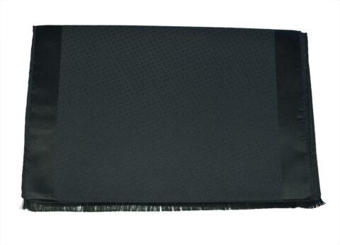 Μεταξωτό Φουλάρι Μαύρο Black-silk-dot