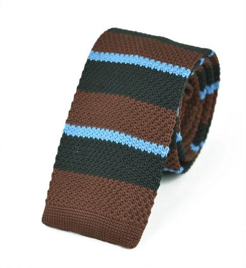 Πλεκτή Γραβάτα Brown-lines