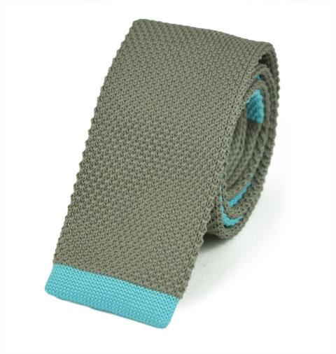 Πλεκτή Γραβάτα Grey-blue