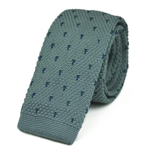 Πλεκτή Γραβάτα Grey-triangle