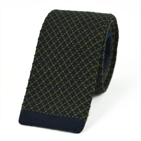 Μάλλινη Πλεκτή Γραβάτα wool-yellow