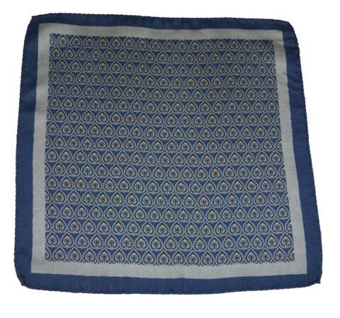 Μεταξωτό Μαντηλάκι Zenon-blue
